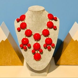 Jewelry - Red Bubbles Statement Necklace